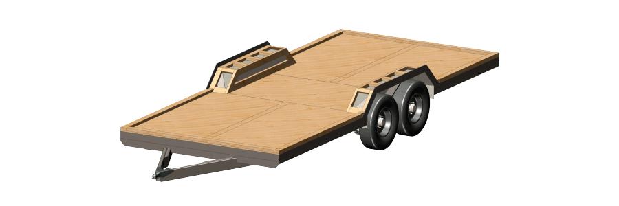20ft Deck Tiny House Foundation Trailer Plans