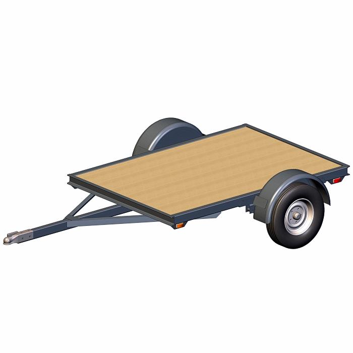 4x6 Utility Trailer Plans - Base Flatbed