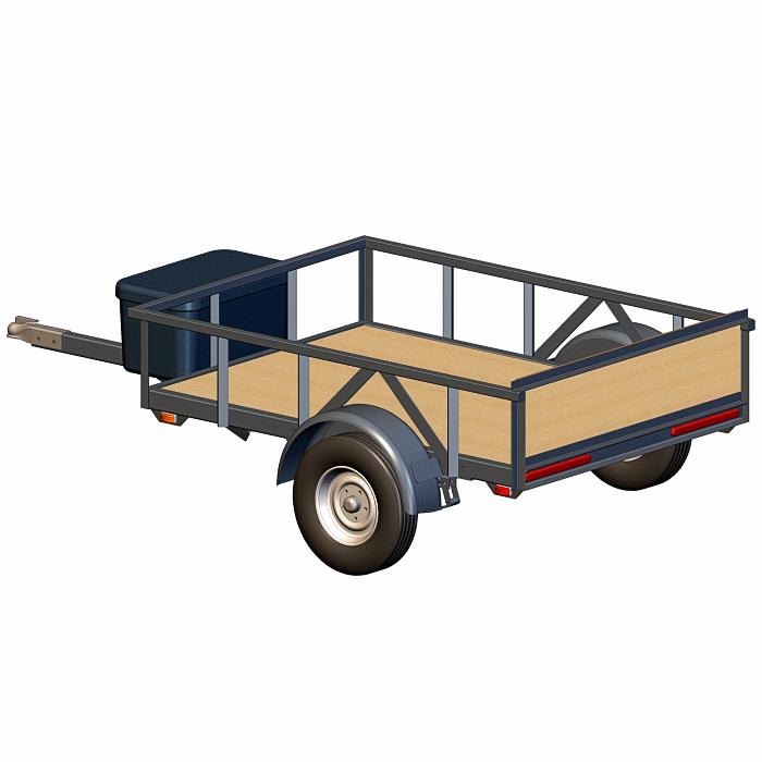 4x6 Utility Trailer Plans - View 2
