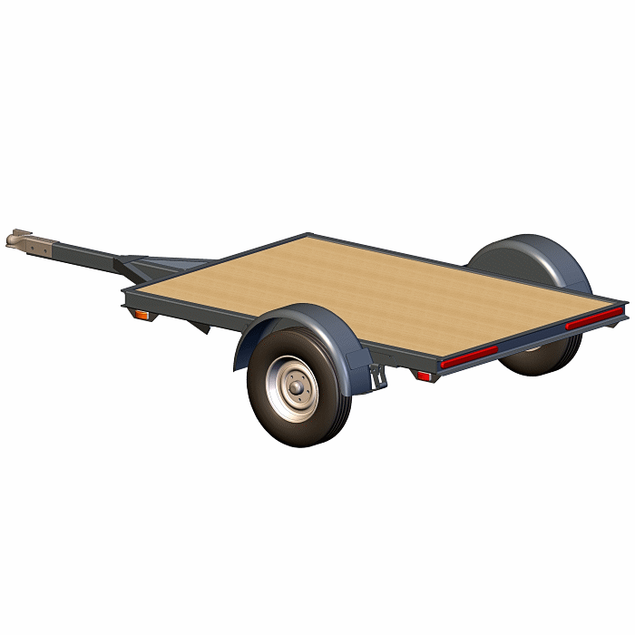 4x6 Utility Trailer Plans  U2013 2000  Capacity  U2013 Small  Tough