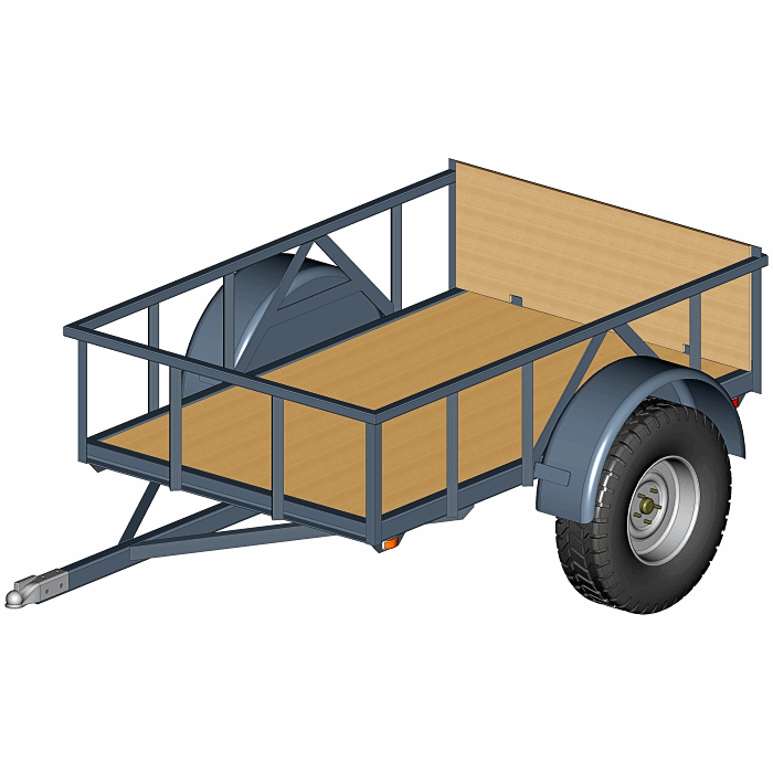 4' x 6 5' - 2500# - Off-Road Trailer Plans