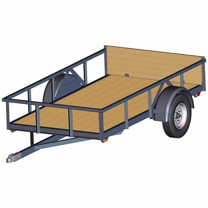 4 x 8 2000 lb. Torsion Axle Trailer Plans