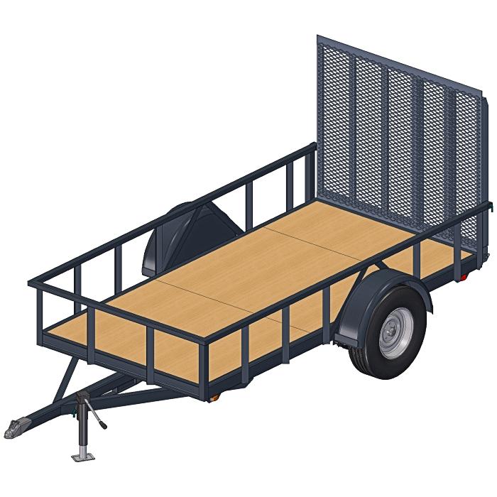 5x10 Utility Trailer Plans - 3500 Lbs Axle Capacity