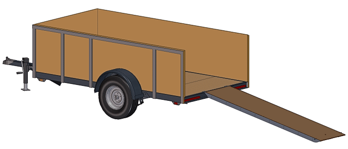 5x10 Utility Trailer Plans and Options