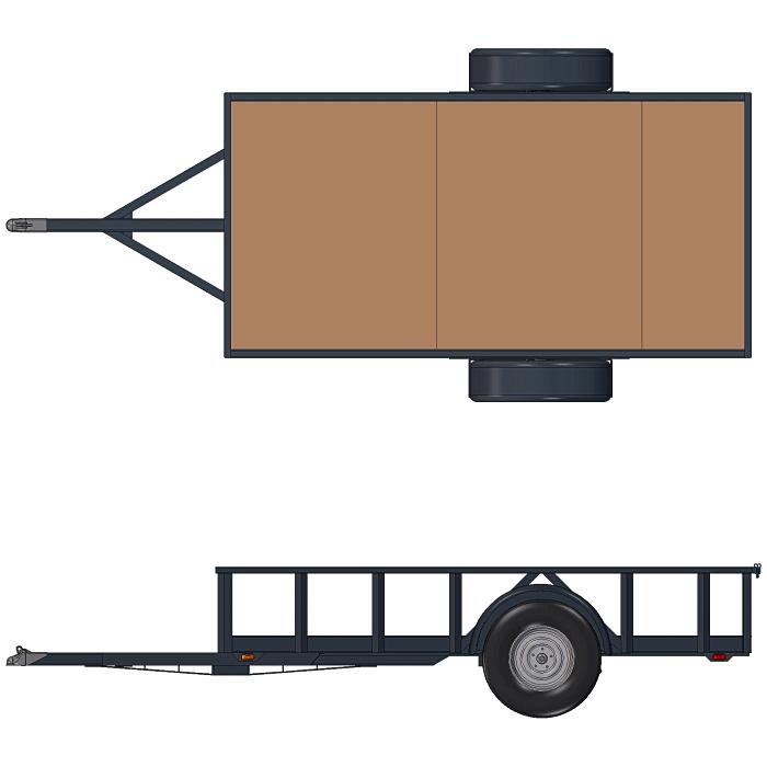 Plan Views - 5x10 Trailer Plans