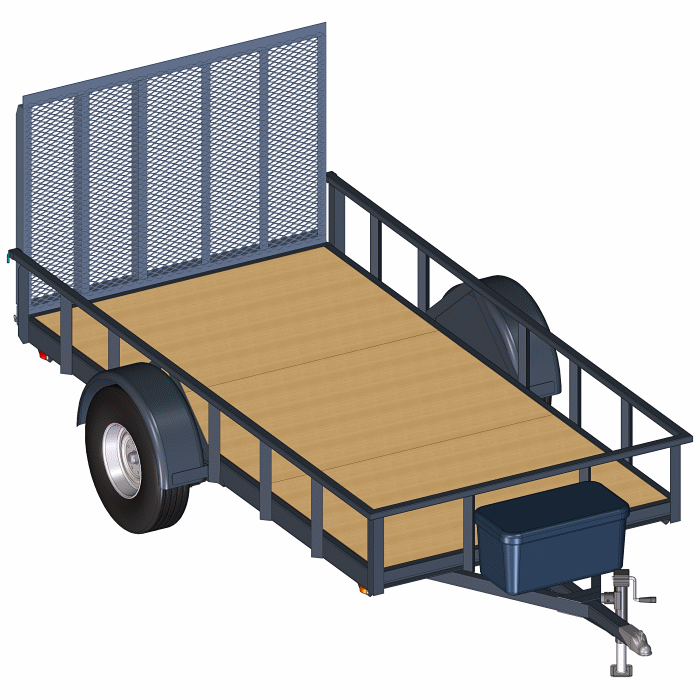 6 X 12 Utility Trailer Blueprints Option For 6000 Lb Or 7000 Lb Axle