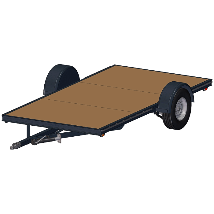 The Flatbed Option 6x12-3500# Trailer