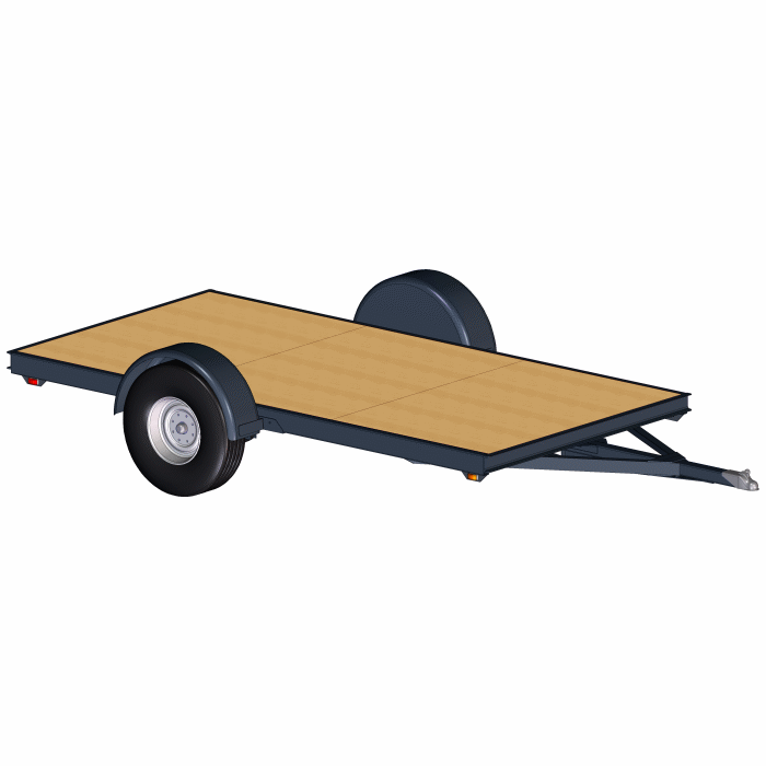 6'x12' Low Deck Trailer Plans