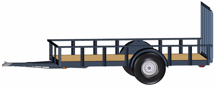 Blueprints: 6 x 12 Utility Trailer 6000 lb Capacity