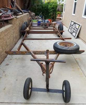 Recycled Travel Trailer Frame