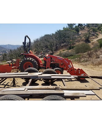 Tractor to Haul With Rebuilt Trailer
