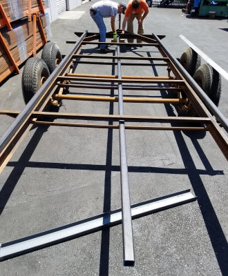 Laying Out The Trailer Frame Steel