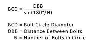 BCD=LBB/(sin(180/N))