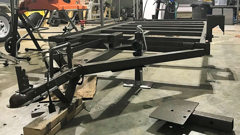 Painted Trailer Frame