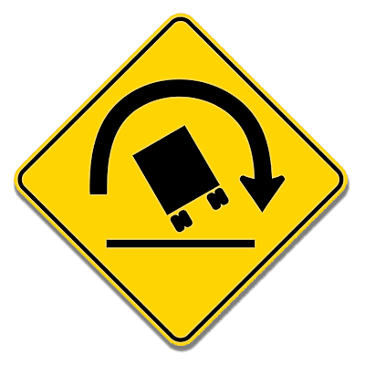 Dynamic Roll Warning Sign