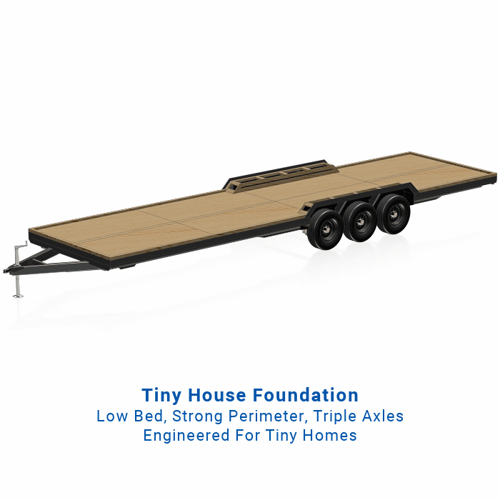 32' Tiny House Trailer Plans For DIY