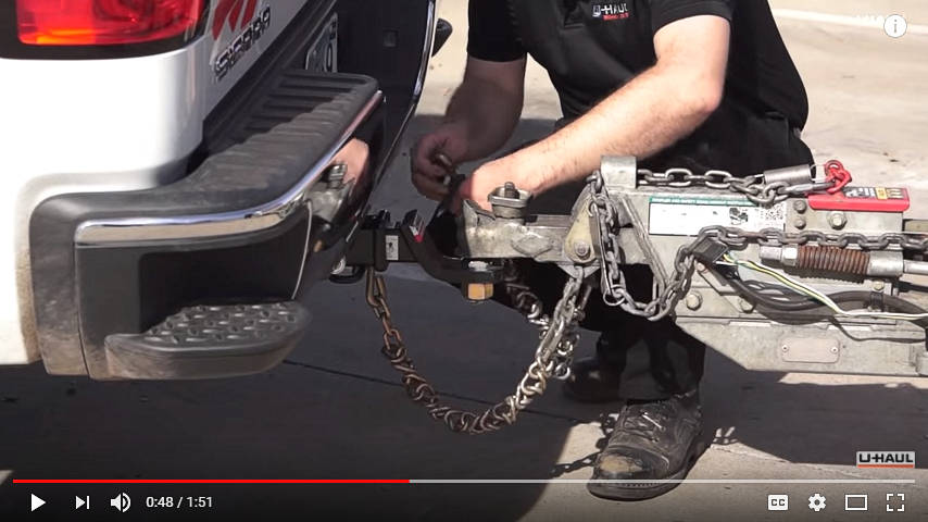 U-Haul YouTube - Twisting Safety Chains
