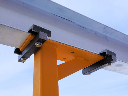 Beam Clamp on a Gantry Crane
