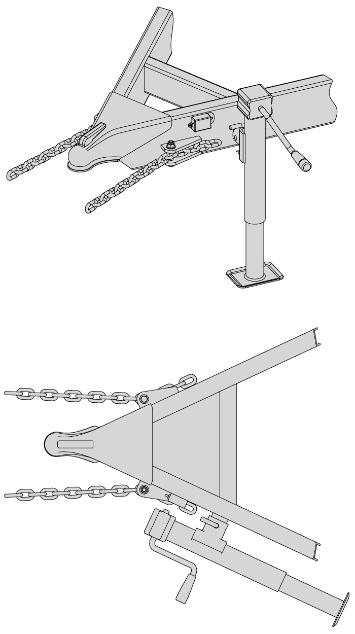Double Tab Adjustment to Attach Safety Chain