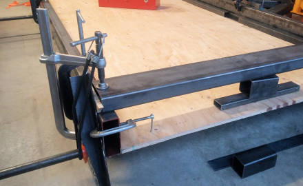 Use Lots of Clamps to Hold Trailer Frame Members Secure