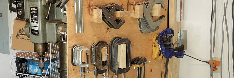 Clamps and Drills Access and Storage Solution