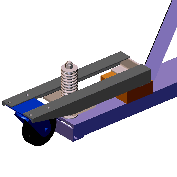 Homemade Crane Spring Wheel Frame