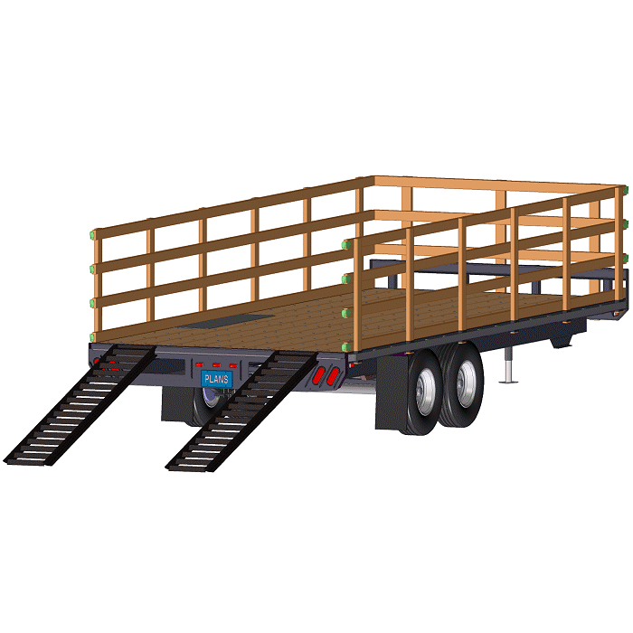 Deck-Over Trailer w/ Stake Sides