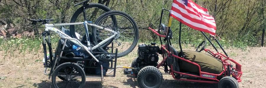 Makeshift DIY Truck and Trailer