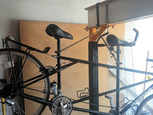 Hanging the Tandem Bicycle on the I-Beam