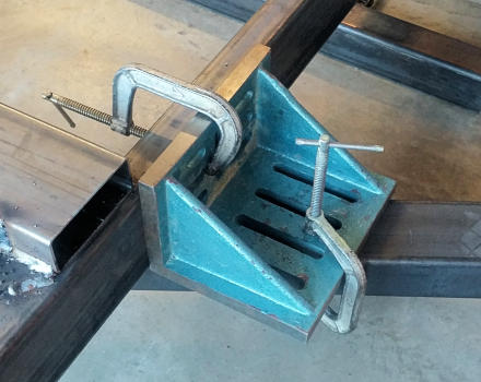 Trailer Frame Square Brace Clamped