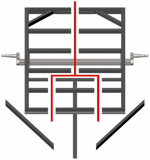 Straight Tongue Split Trailer Frame to Add Width