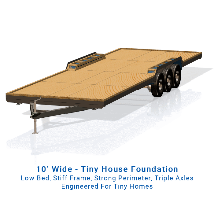 10x32 Wide Tiny House Trailer Plans