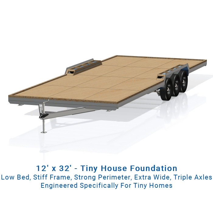Wider 12 x 32 Tiny House Trailer Plans