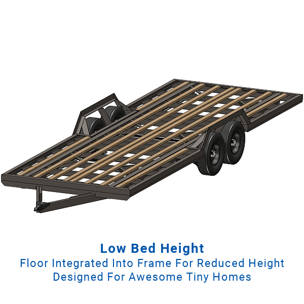 Tiny Home Trailer Foundation Plans - Tandem Axle, 14,000 Lb. Capacity