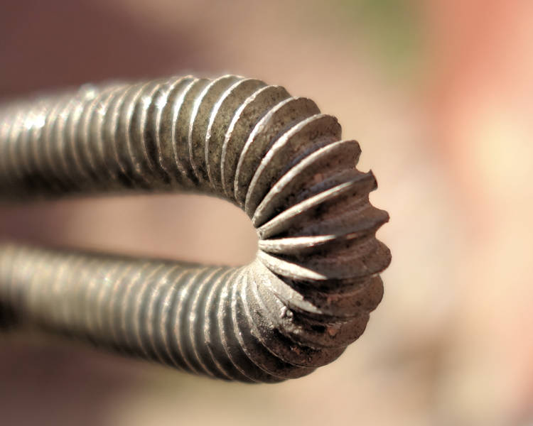 Tight Bend In Threaded Rod