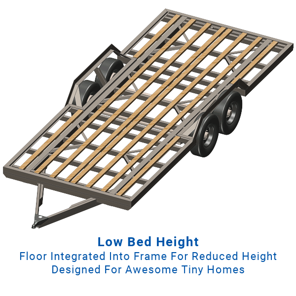 Tiny House Trailer Frame Plans - 20\' Length, Tandem Axle, 14,000 Lb. Cap