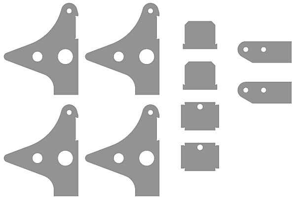 Parts for the Folding Trailer Tongue Attachment