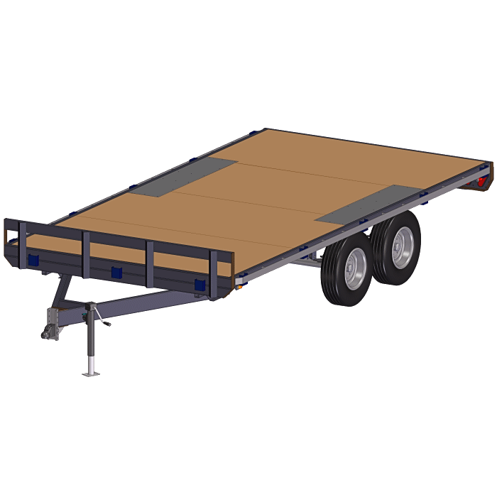 8.5' x 16' 7000 lbs Deck Over Trailer Plans