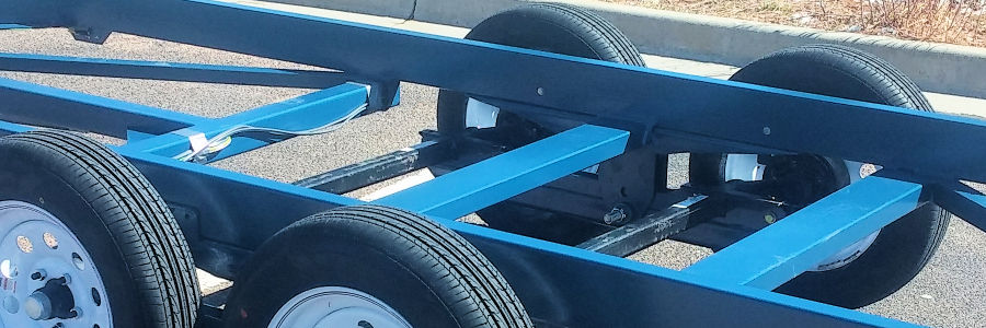 A Look At The Twin Trailing Torsion Axles On The Trailer