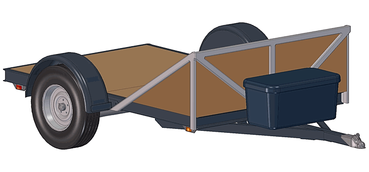 Options with 5' x 8' - 3500# Torsion Axle Trailer Plans