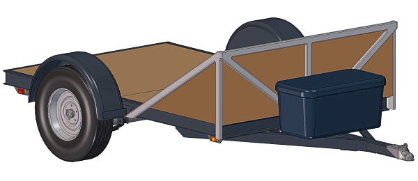 One View - 5x8-3500# Utility Trailer Plans