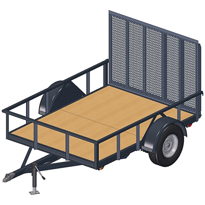 6x8 Trailer Plans - 3500 lbs