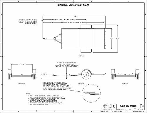 Trailer Blueprints Page Example For Free Trailer Plans