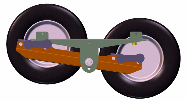 Walking Beam Suspension For Torsion Axles In Tandem