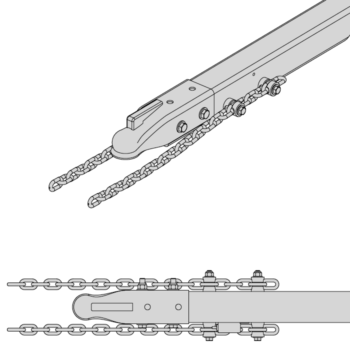 Attach Safety Chain With Bolts