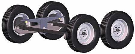 Walking Beam Trailer Suspension Now For Smaller Trailers
